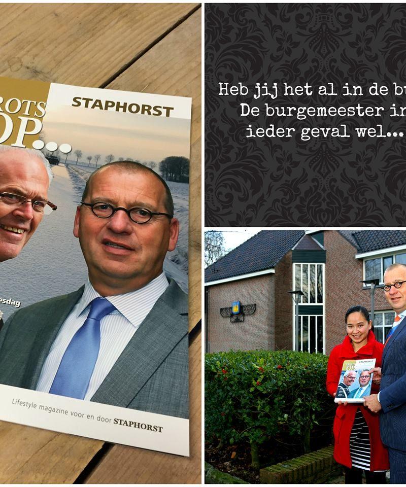 Overhandiging van de Trots op Staphorst aan de burgemeester